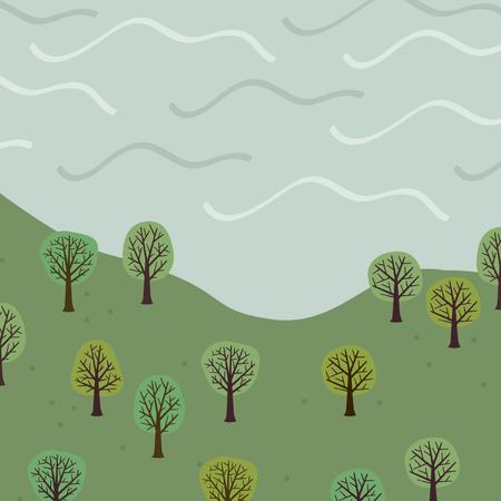 Landscape - vector illustration