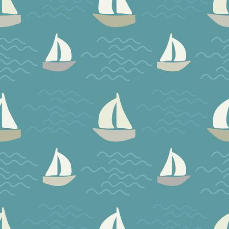 ボートや海の波