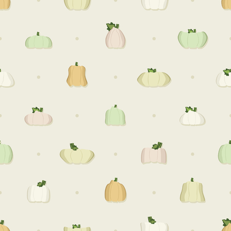 Pumpkins and squashes - vector background