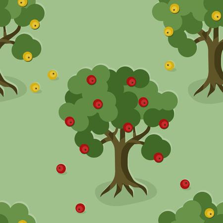 Apple trees Illustration