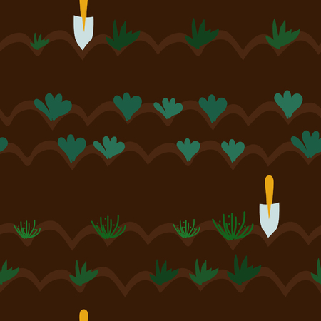 Cultivation of vegetables - vector background