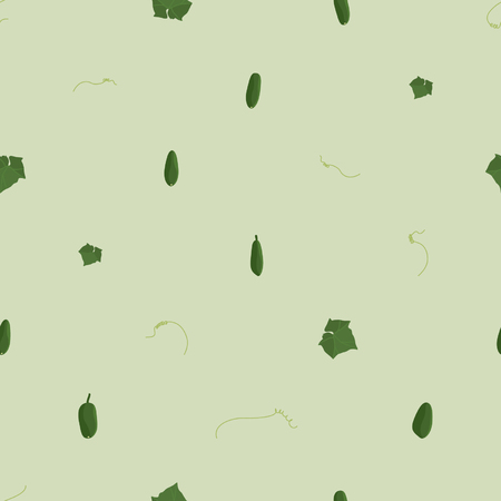 Cucumbers - vector background