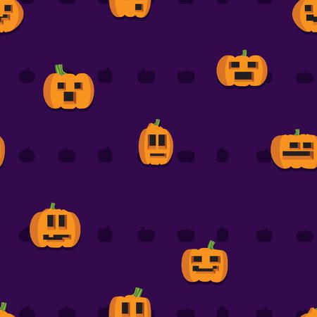 Halloween pumpkins - vector background