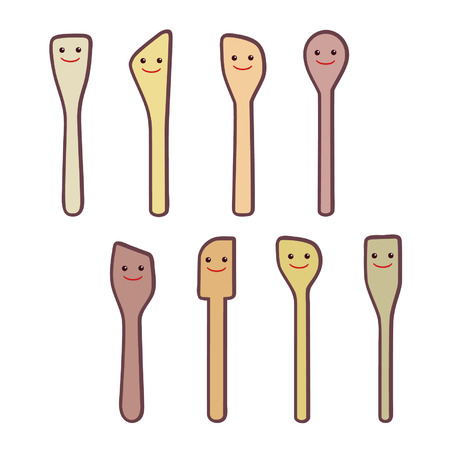 Wooden spoon characters - vector illustration