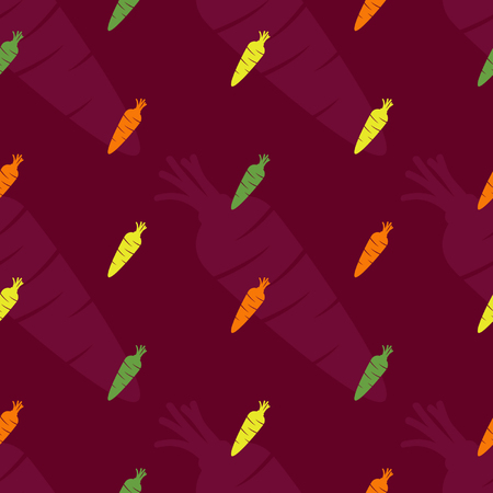 Colorful carrots vector background
