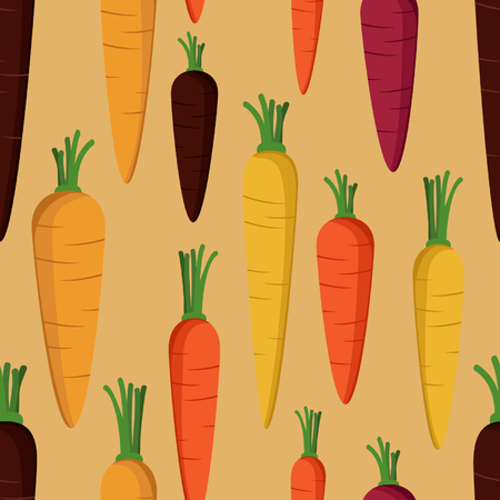 Carrots - vector background