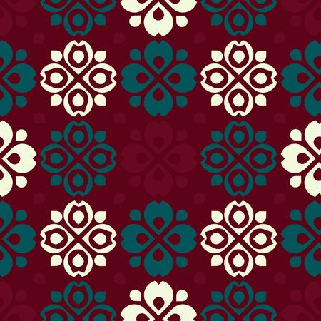 Rustic folk pattern - vector background Illustration