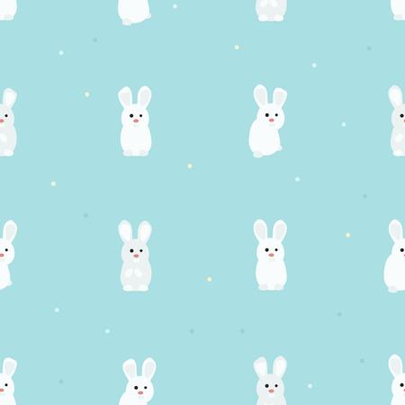 White rabbits - vector background