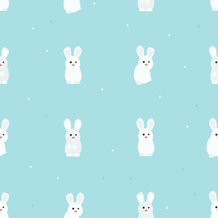 White rabbits - vector background