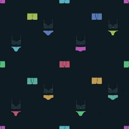 Sous-vêtements colorés - fond de vecteur. Banque d'images - 86864421
