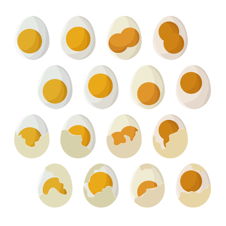 Set of eggs - vector illustration