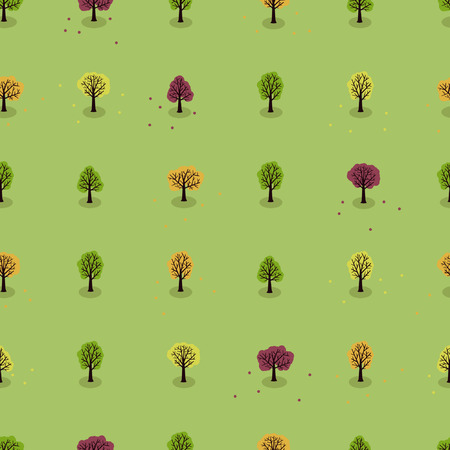 Autumn trees seamless back drop