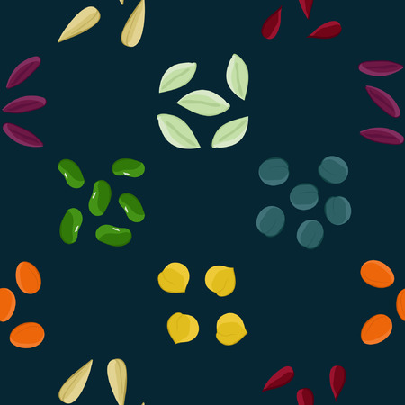 Colorful seeds - vector background