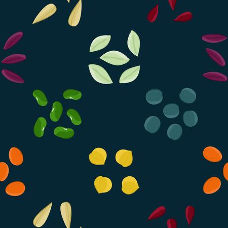 Kleurrijke zaden - vector achtergrond Stock Illustratie