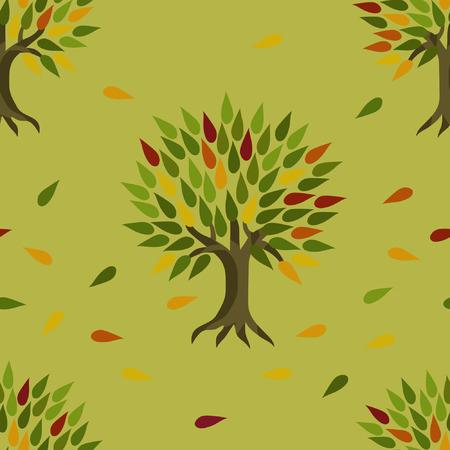 Autumn trees - vector  background