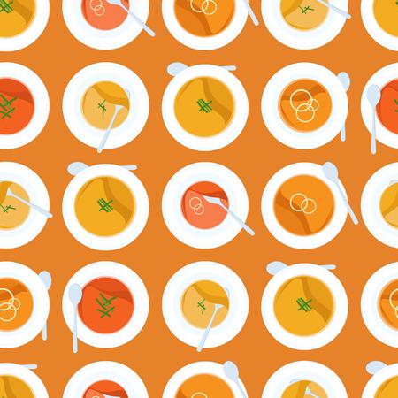 Kürbissuppe - Vektorhintergrund Standard-Bild - 87640715
