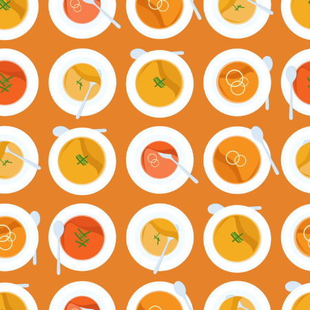 Pumpkin soup - vector background