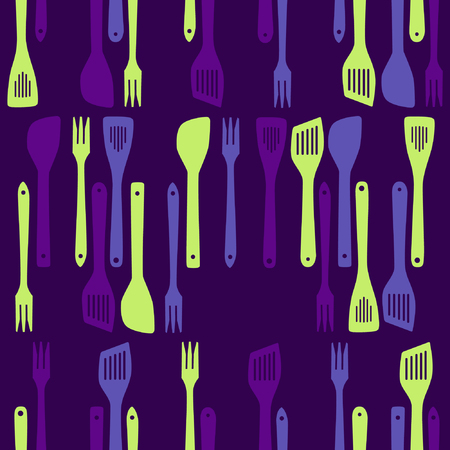 Frying tools - vector pattern