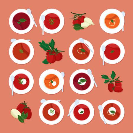 Tomato soup set