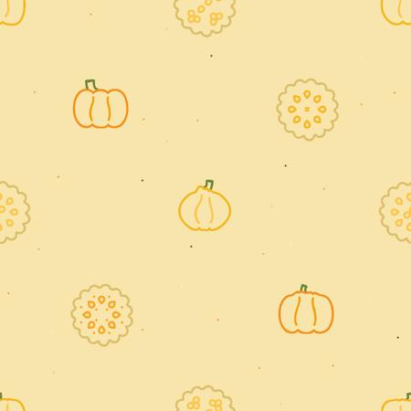 Pumpkin and pumpkin pie background Ilustrace