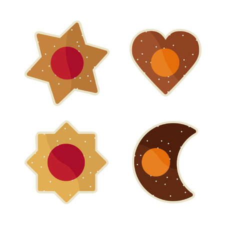 Christmas cookies - vector illustration Illustration