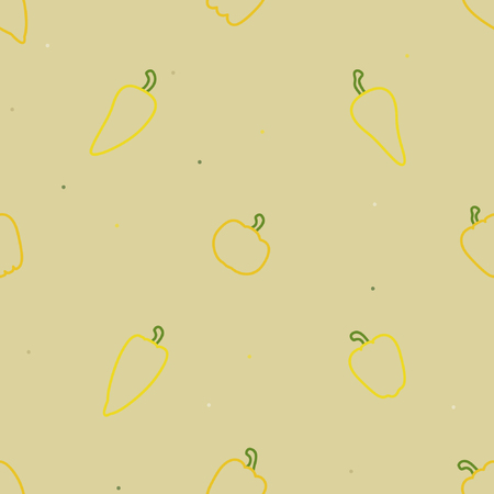Outline peppers vector background