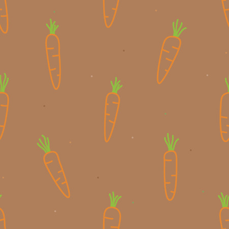 Outline carrots - vector background