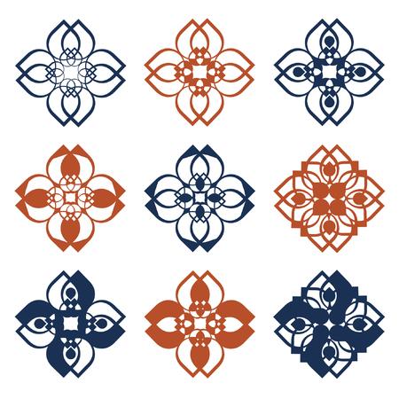 Rustic folk pattern vector illustration Illustration