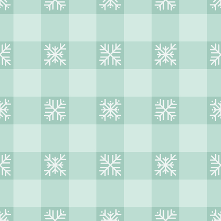 Snowflakes on squared pattern - vector background