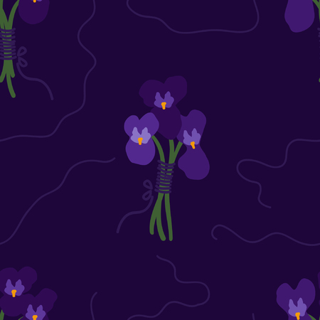 Bunch of violets - vector background