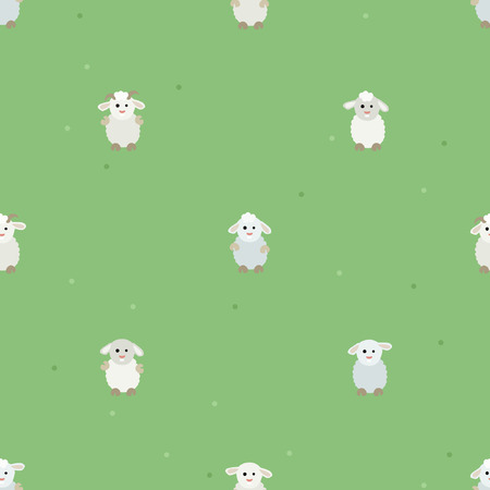 Sheep and ram characters - vector background