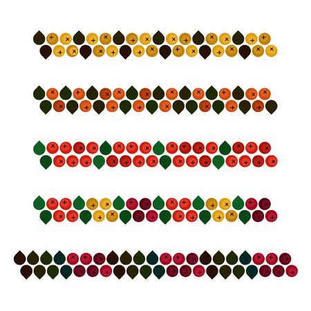 Autumn ash berry decorations - vector illustration Иллюстрация