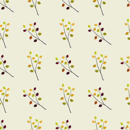 Autumn birch branches - vector background