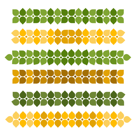 Set of wheat grain decorations - vector illustration Ilustração