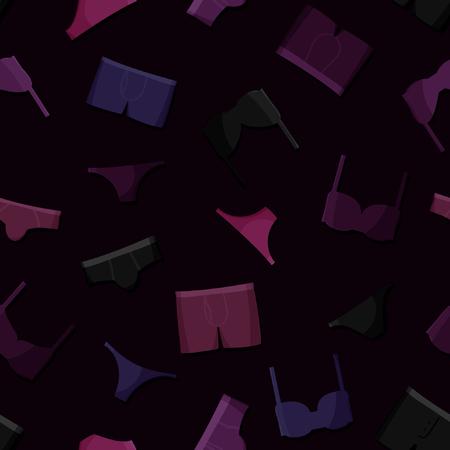 Underwear on dark background - vector background Illustration