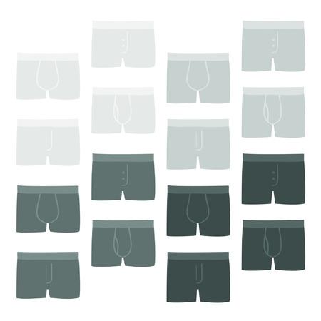 Mens shorts - vector illustration