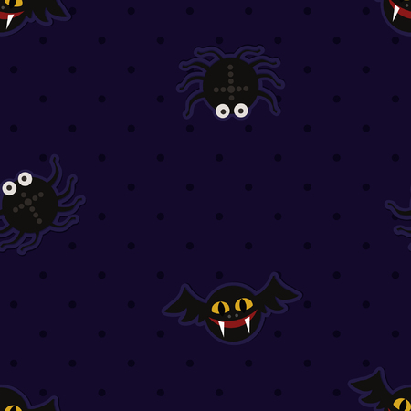 Bats and spiders - Halloween theme background Ilustração