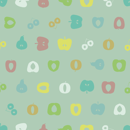 Various fruit silhouettes - vector background