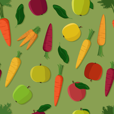 Apples and carrots - vector illustration