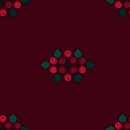 Ash berry decorations - vector background Illustration