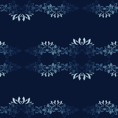 Christmas garland on dark blue - vector background Archivio Fotografico - 113722955
