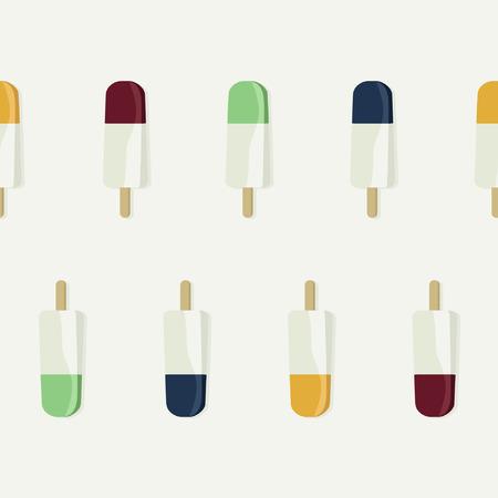 Vanilla ice pops - vector illustration