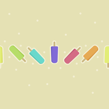 Colorful ice pops - vector background