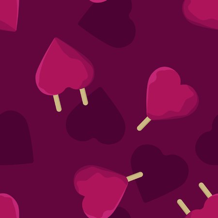 Heart ice pops - vector background Banque d'images - 120203125