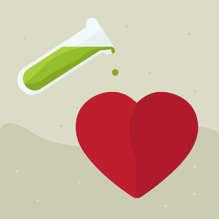 Poisoning the heart - vector illustration