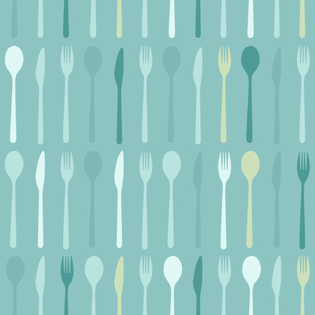 Spoon, fork and knife - vector background