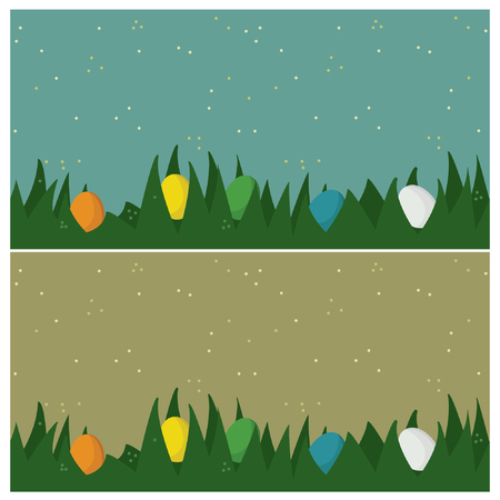 Easter eggs in the grass - vector illustration