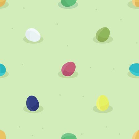 Colorful Easter eggs -  vector background Ilustração