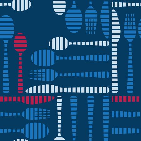 Cutlery on a dark blue background - vector background Ilustração