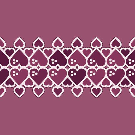 Heart pattern - Valentines vector background